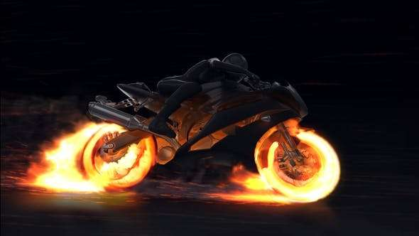Videohive 22659715 - Motorcycle Fire Reveal - After Effect Template
