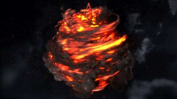 Videohive 22065696 - Magic Fire Reveal - After Effect Template