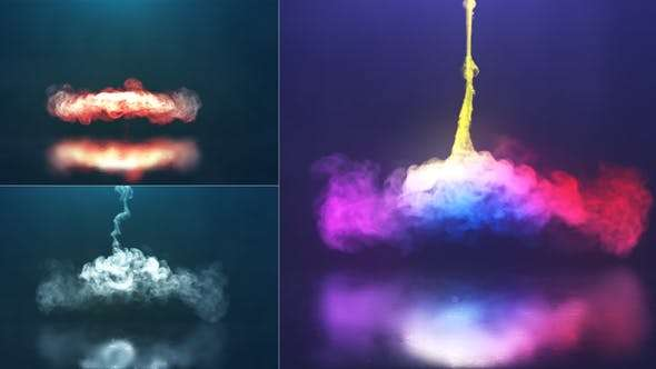 Videohive 22221279 - Spiral Smoke Reveal - After Effect Template