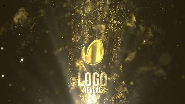 Videohive 23749671 - Fluid Gold Logo Reveal - After Effect Template