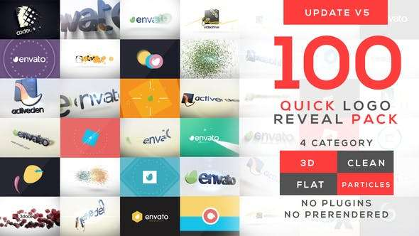 Videohive 10399896 - Quick Logo Reveal Pack - After Effect Template