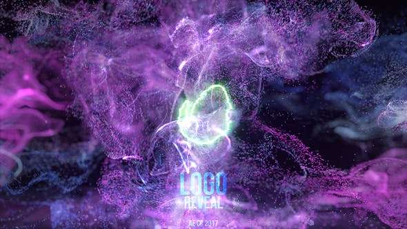 Videohive 24054408 - Neon Fluid Particles Reveal - After Effect Template