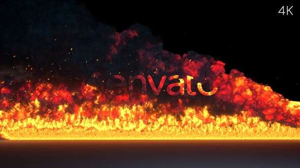 Videohive 24298390 - Fire Burning Logo Reveal - After Effect Template