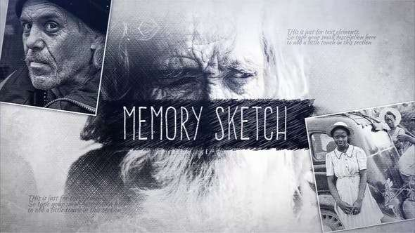 Videohive 23238386 - Memory Sketch - After Effect Template