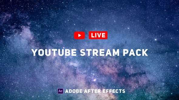 Videohive 24589838 - YouTube Live Pack - After Effect Template
