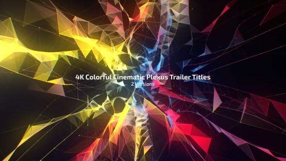 Videohive 22478842 - 4K Colorful Cinematic Plexus Trailer Titles (2 Versions) - After Effect Template
