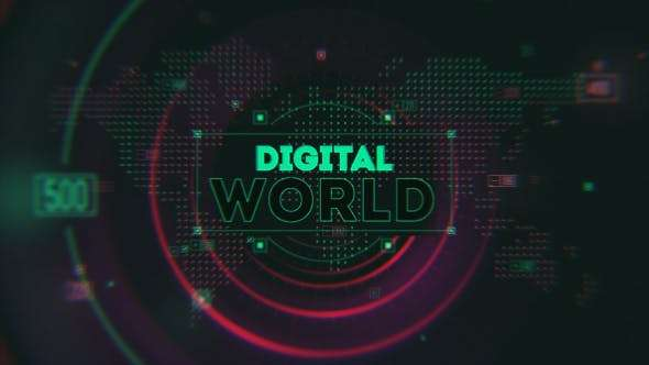 Videohive 15654657 - Digital World Opener - After Effect Template