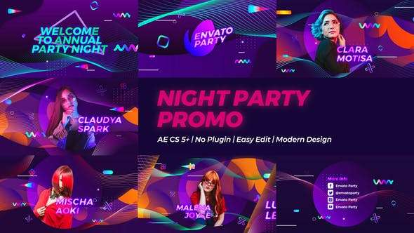 Videohive 23900063 - Night Party Promo - After Effect Template