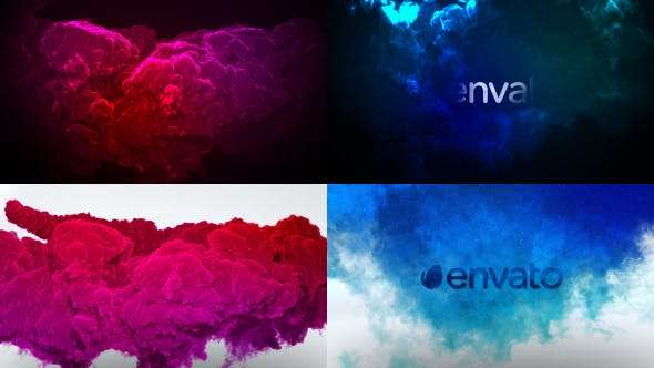 Videohive 18840855 - Color Smoke Logo Reveal 2 - After Effect Template