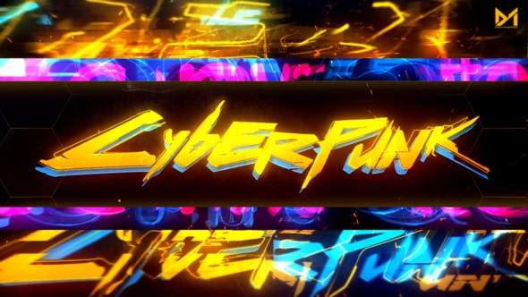Videohive 24087888 - Cyberpunk Logo reveal - After Effect Template