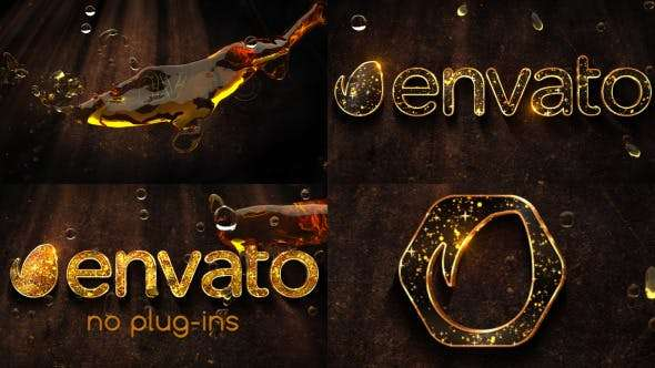 Videohive 10914676 - Liquid Gold Logo - After Effect Template