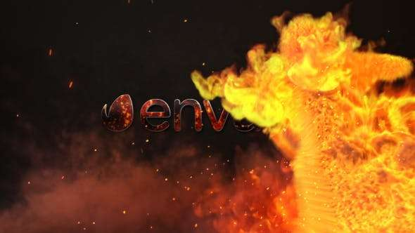 Videohive 20259322 - Fire Dance Logo - After Effect Template