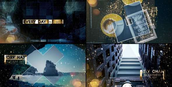 Videohive 20149499 - Gold & Silver Slideshow - After Effect Template