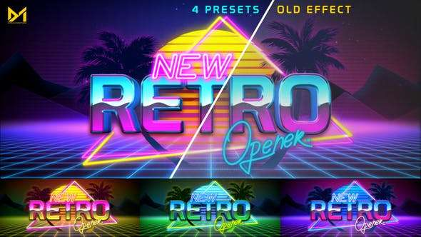 Videohive 23099094 - Retro Opener - After Effect Template