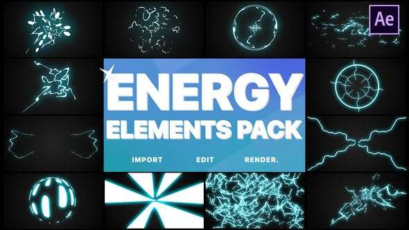 Videohive 24522373 - Energy Elements Pack - After Effects - After Effect Template