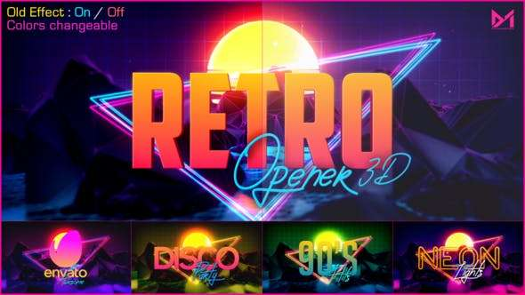 Videohive 23993088 - Retro Opener 3D - After Effect Template