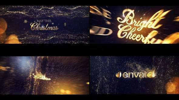 Videohive 22866725 - Gold Christmas Greeting Titles - After Effect Template