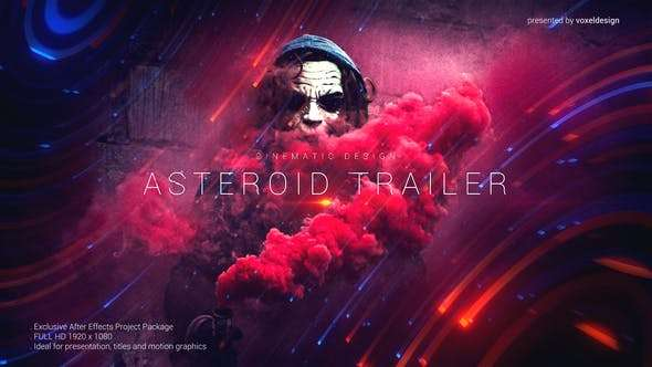 Videohive 24594938 - Asteroid Cinematic Trailer - After Effect Template