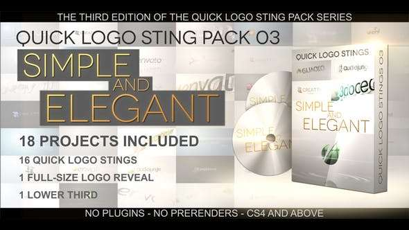 Videohive 5874067 - Quick Logo Sting Pack 03: Simple & Elegant - After Effect Template