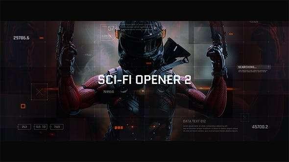 Videohive 21218914 - Sci-Fi Opener / Hi-Tech Slideshow / Futuristic Film Credits / HUD Elements / Space Science - After Effect Template