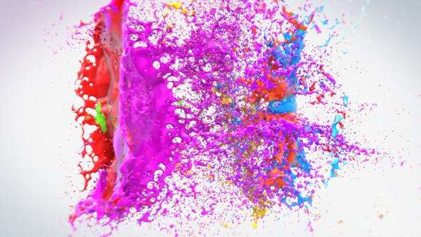 Videohive 18279130 - Colorful Splash Logo - After Effect Template