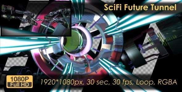 Videohive 21131232 - Sci-Fi Future Tunnel - Footage