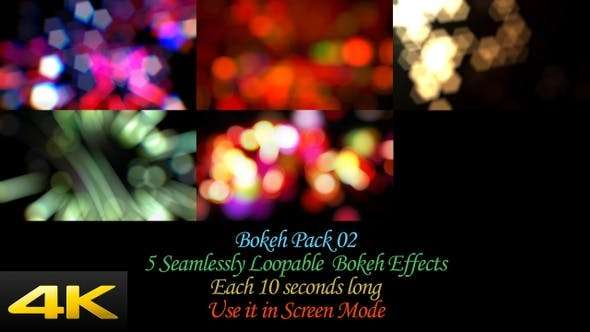 Videohive 24624381 - Bokeh Effects Pack V2 - Footage