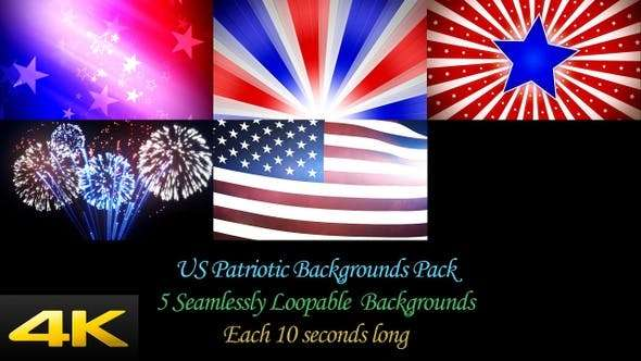 Videohive 24624379 - US Patriotic Backgrounds Pack - Footage