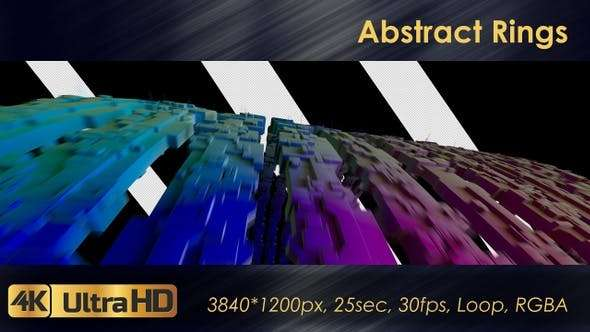 Videohive 23126285 - Abstract Rings - Footage