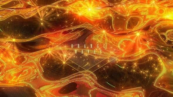 Videohive 24624843 - Orange Waves - Footage