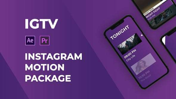 IGTV – Instagram Motion Pack | Videohive 22975925 | Essential Graphics MOGRT