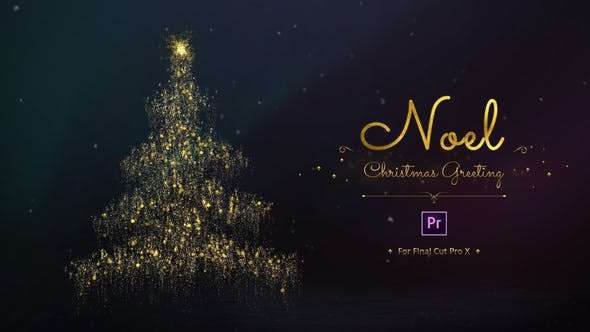 Noel - Christmas Greetins for Premiere Pro by Pixflow   Free Premiere Pro Projects