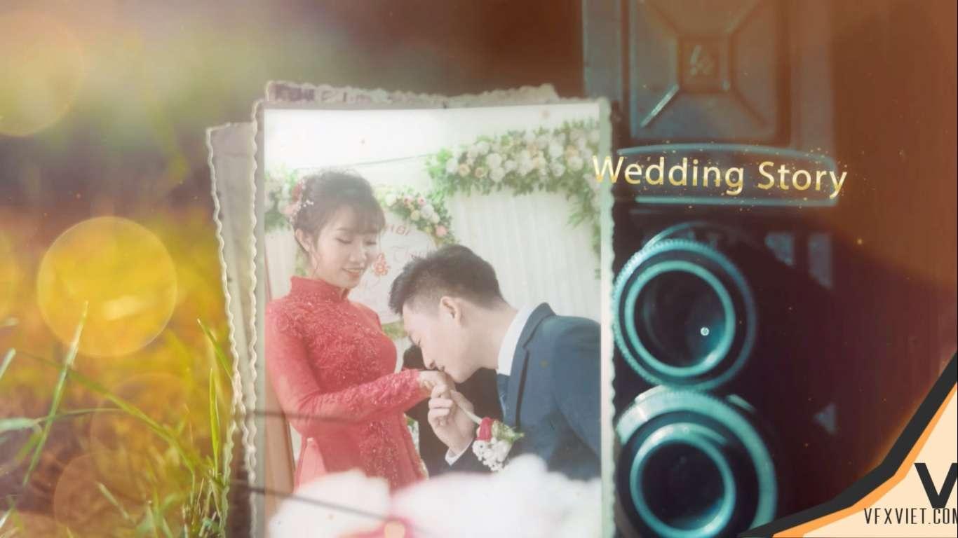 Retro Slide wedding