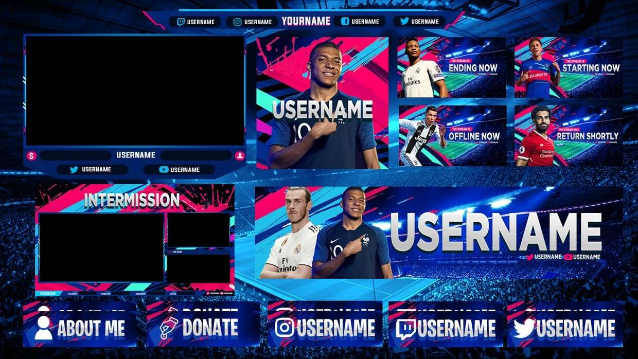Streammer Pack Overlay PSD