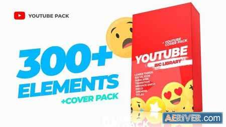 300 Youtube Library and Сover pack AE PR