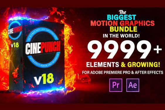 CINEPUNCH v18 - Transitions I Color LUTs I Pro Sound FX I 9999+ VFX Elements Bundle | VideoHive 20601772