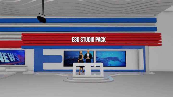 Videohive 22944145 - Element 3D Broadcast Studio Pack - After Effect Template