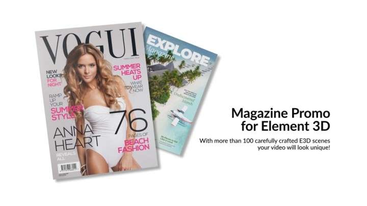 Videohive 23030644 - Magazine Promo for Element 3D - After Effect Template
