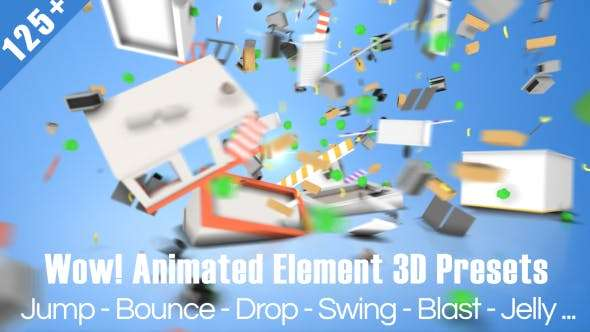 Videohive 19997366- Wow! Dynamic Element 3D Presets - Element 3D Preset