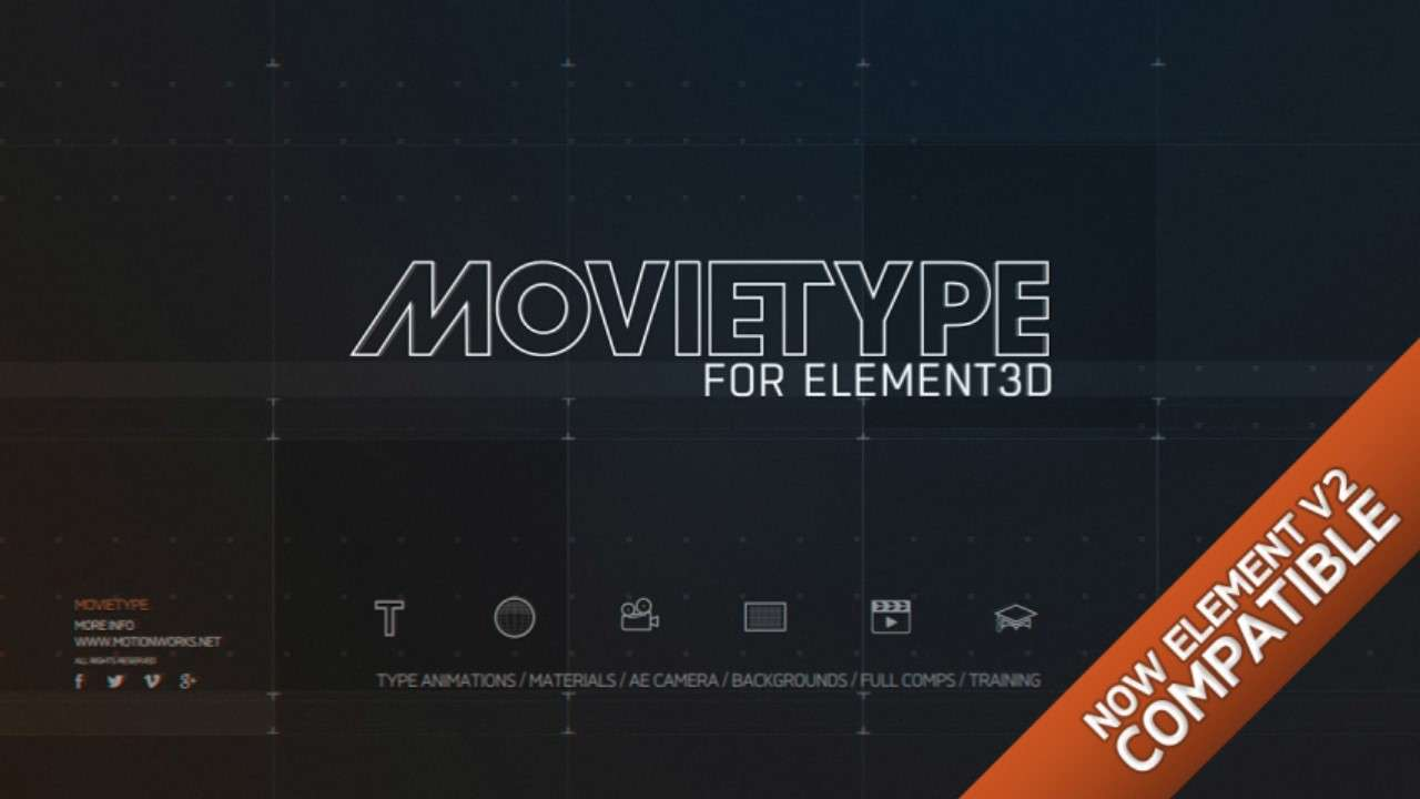 Movietype For ELEMENT 3D V2 - Element 3D MoText