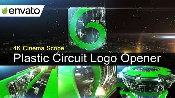 Videohive 18926257 - Plastic Circuit Logo Opener / Element 3D - After Effect Template