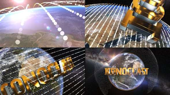 Videohive 18566032 - The Earth Element 3D Text Logo Opener - After Effect Template