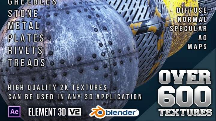 Urban Decay Shader Pack (Physical) - Element 3D Material
