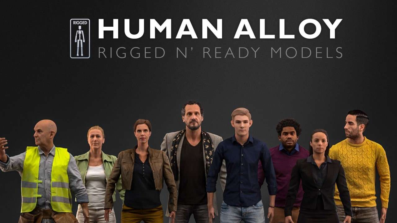 Human Alloy 3D Model Collection - Model 3D For Free