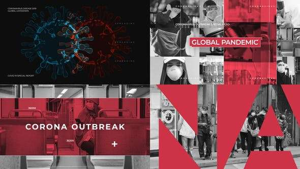 Videohive 26272939 - Coronavirus Intro - After Effect Template