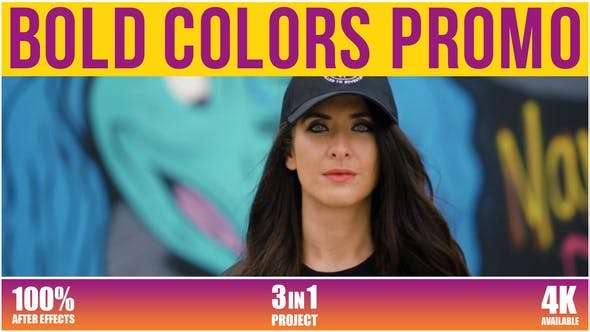 Videohive 26261071 - Bold Colors Promo - After Effect Template