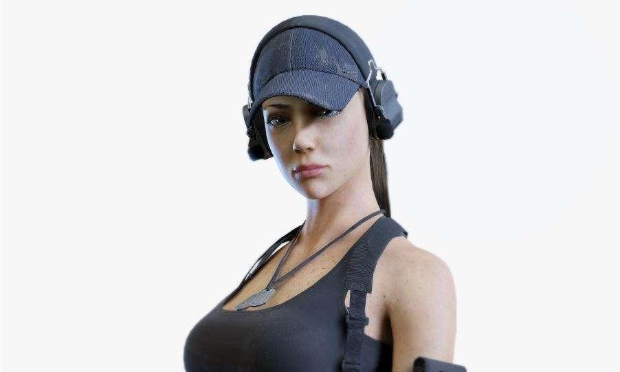 Army Girl 3d model - Model 3D For Free