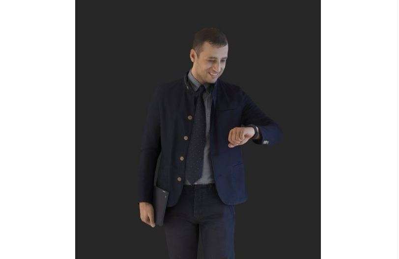 Casual Man Checking time 3d model - Model 3D For Free