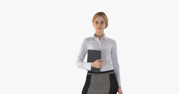 Business Woman Standing 3d model  - Model 3D For Free