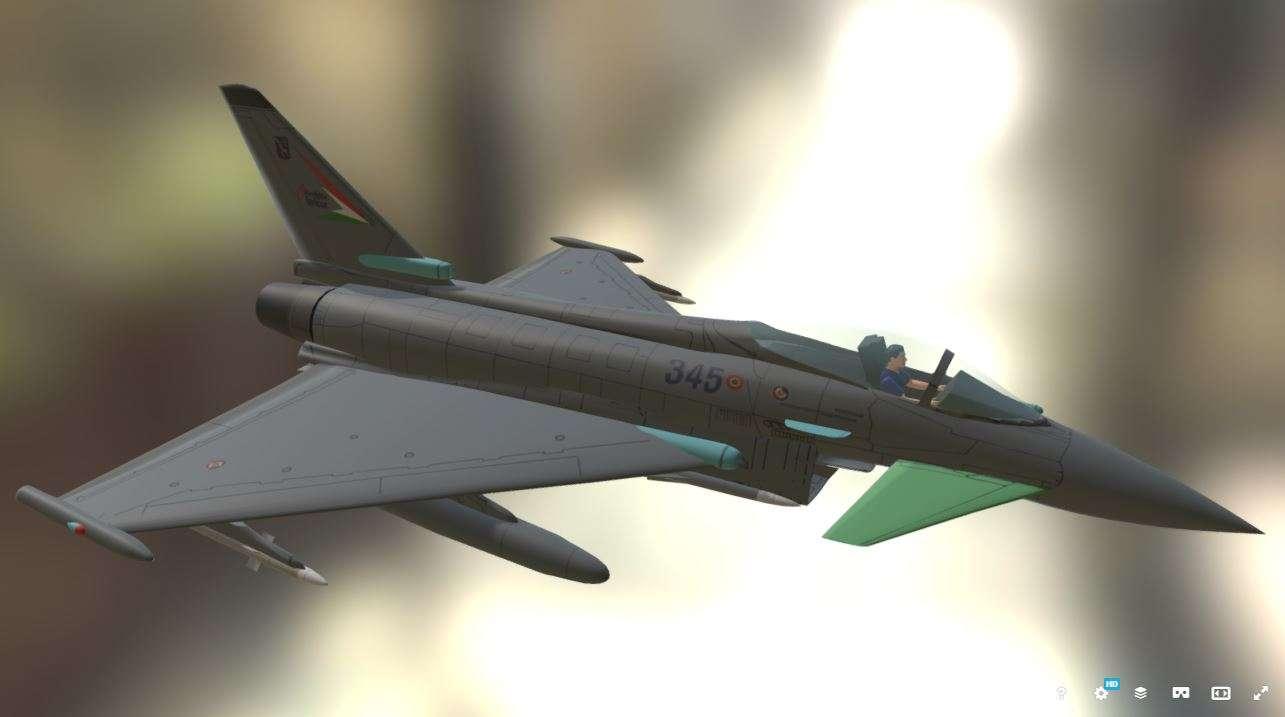 EF2000 Multirole Fighter 3d model - Model 3D For Free